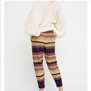 Free people colorful lounge pants size large